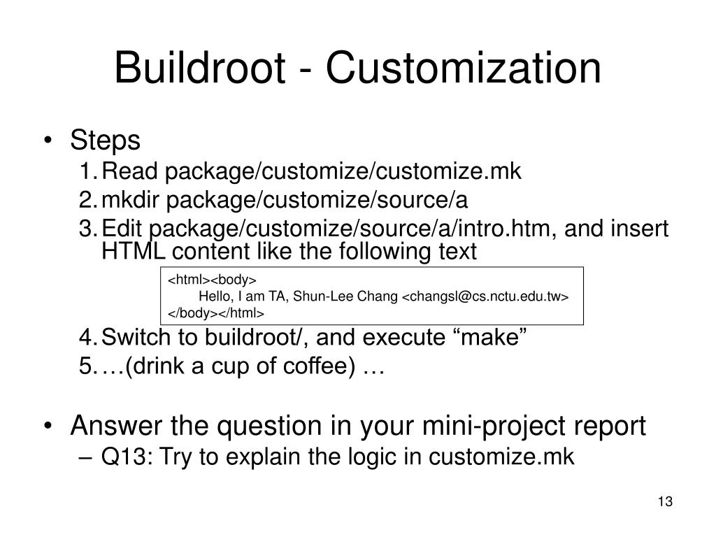 PPT - Turn Key Mini Project – SVN and Buildroot PowerPoint