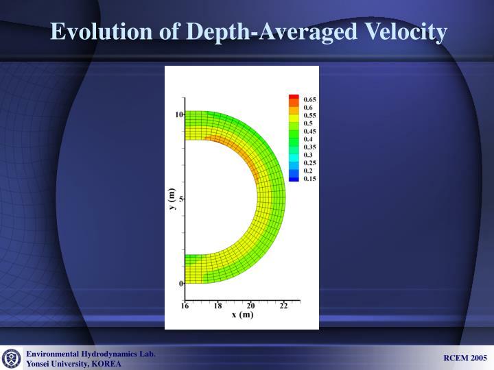 Evolution of Depth-Averaged Velocity