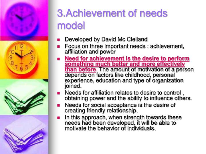 3.Achievement of needs model
