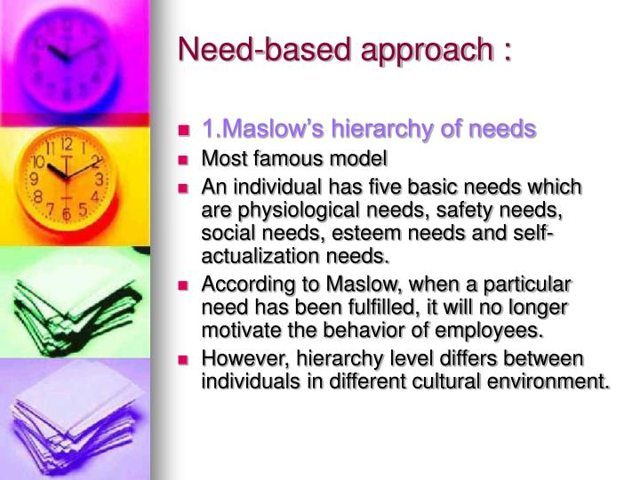 Need-based approach :