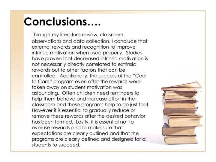 Conclusions….