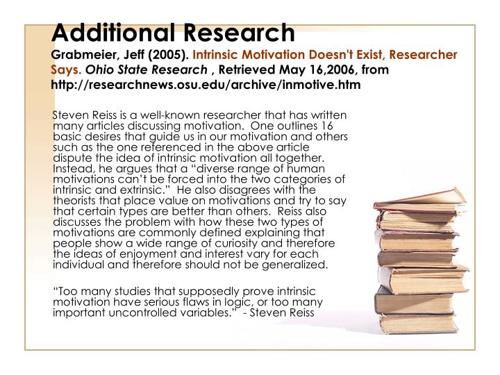 Additional Research