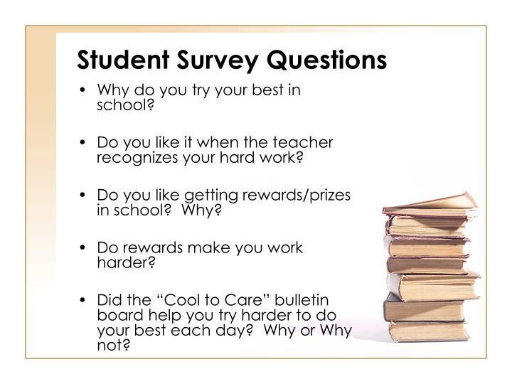 Student Survey Questions
