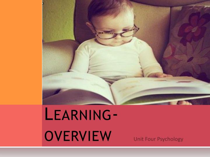 learning overview n.