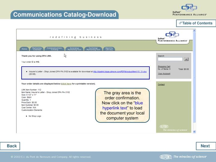 Communications Catalog-Download