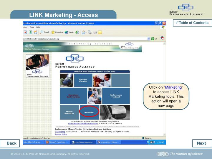 LINK Marketing - Access