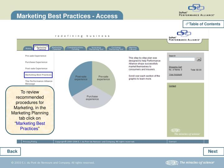 Marketing Best Practices - Access