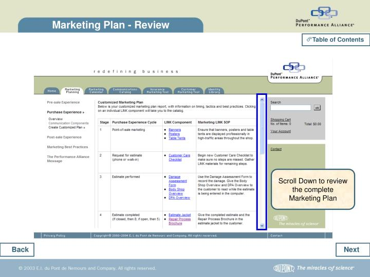Marketing Plan - Review