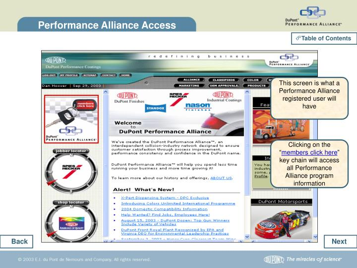 Performance Alliance Access