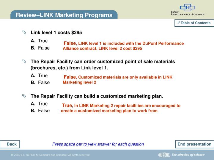 Review–LINK Marketing Programs