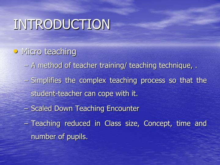 micro teaching critical reflection Anyone can learn for free on openlearn  will've seen that would be a good feature of your teaching critical reflection allows us to synthesise.