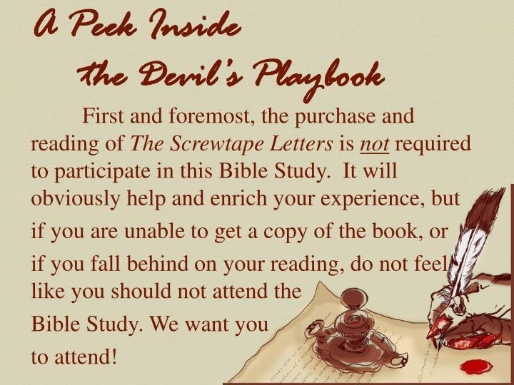 A peek inside the devil s playbook1