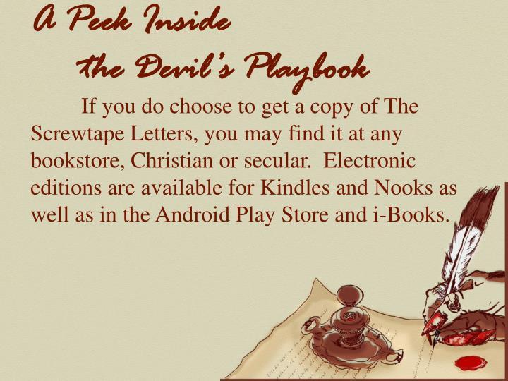 A peek inside the devil s playbook2