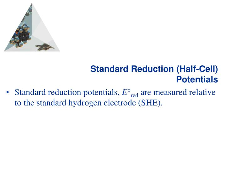 Standard Reduction (Half-Cell) Potentials