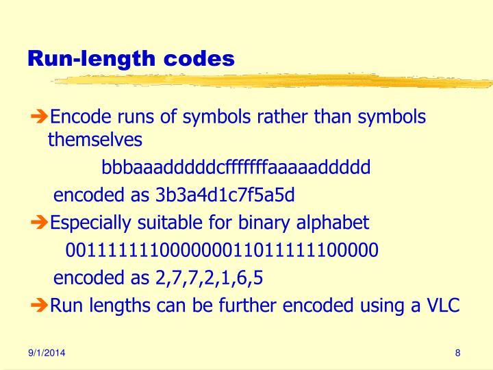 Run-length codes