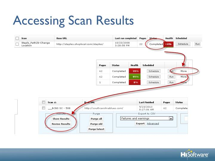 Accessing Scan Results