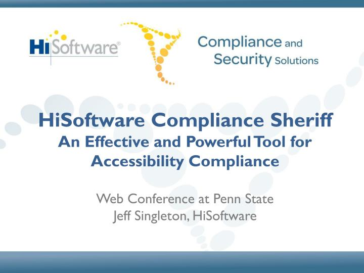 HiSoftware Compliance Sheriff