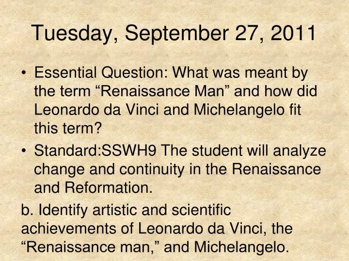 Tuesday, September 27, 2011