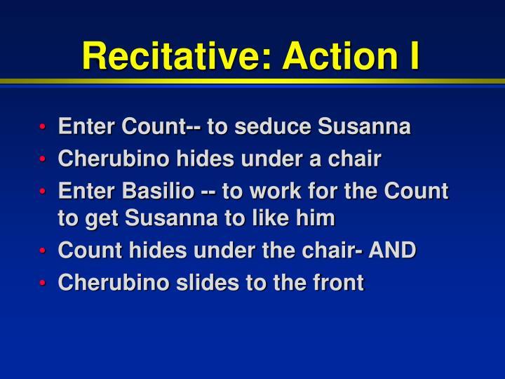 Recitative: Action I