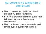 our concern the contribution of clinical audit