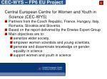 cec wys fp6 eu project