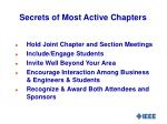 secrets of most active chapters