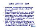 subra ganesan east