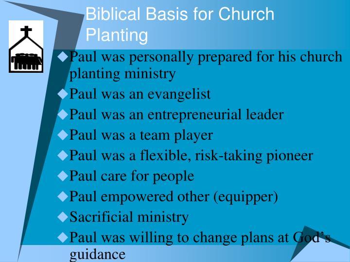 Biblical basis for church planting
