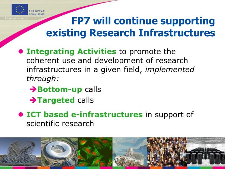 FP7 will continue supporting
