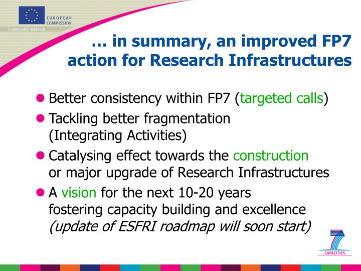 … in summary, an improved FP7
