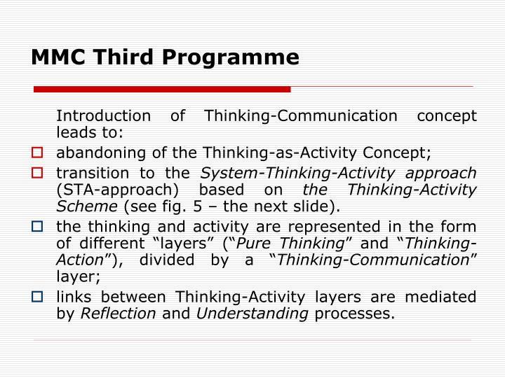 MMC Third Program