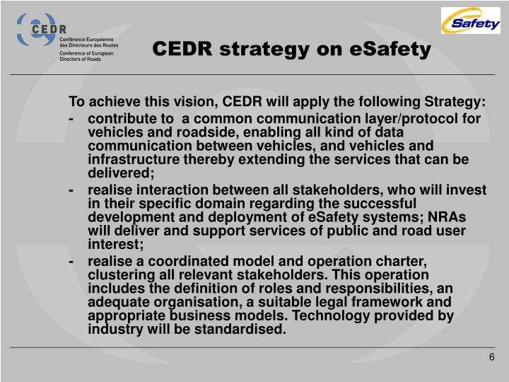 CEDR strategy on eSafety