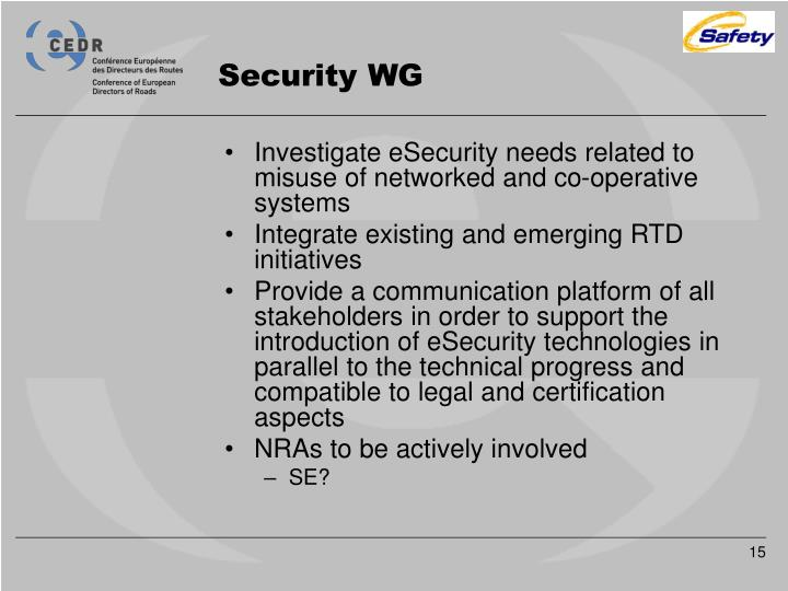 Security WG