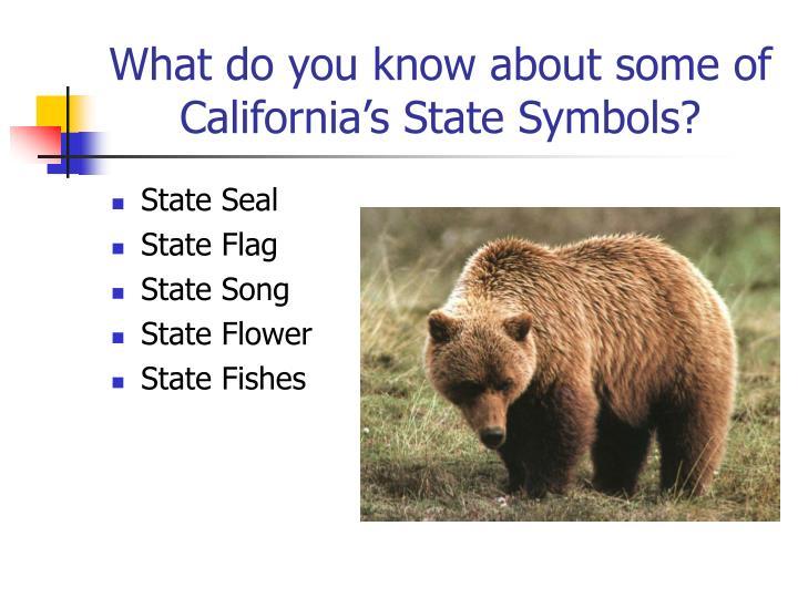 Ppt California State Symbols Powerpoint Presentation Id3765254
