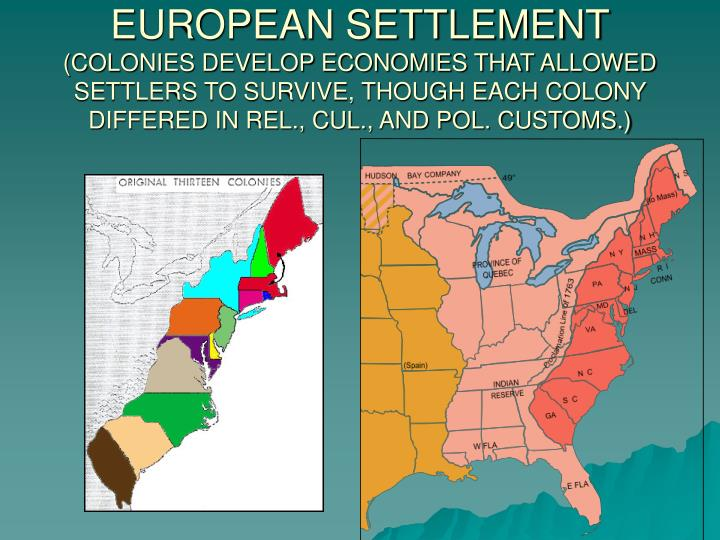 colonies developed Chapter 4: the colonies develop introduction : by 1700, two economic systems had developed in the american colonies both systems created wealth, but in very.