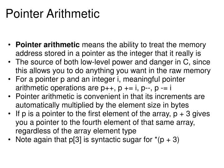 Pointer Arithmetic