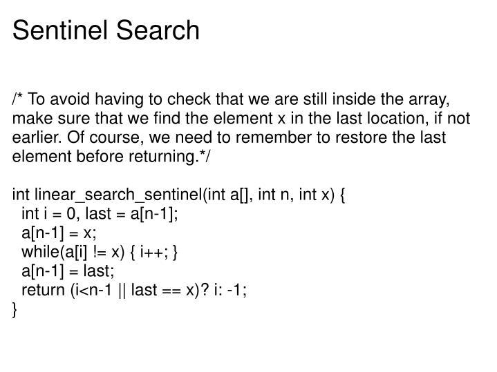 Sentinel Search