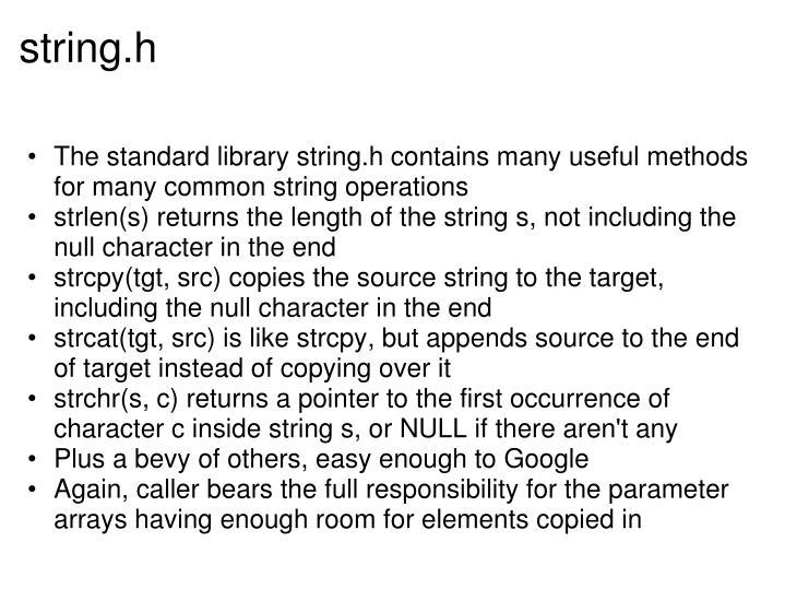 string.h