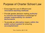 purpose of charter school law