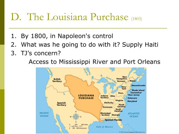 impact of the louisiana purchase and the The louisiana purchase in 1803 nearly doubled the size of the territory controlled by the us in north america the us basically doubled in size westward, instead of the proposed lands jefferson wanted to take southward he sent delegates to spain to buy florida and other parts for less than 1.