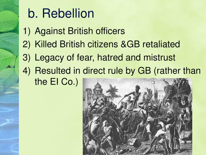 Against British officers