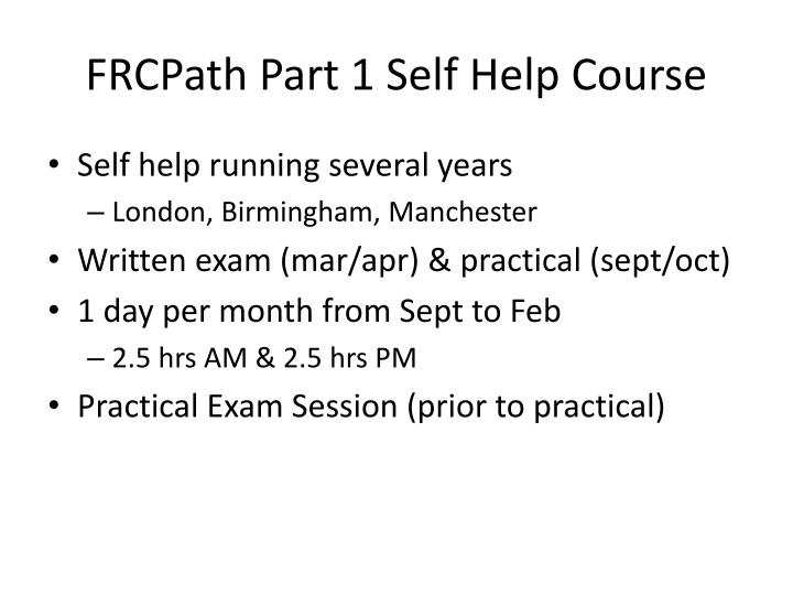 Frcpath part 1 self help course
