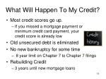 what will happen to my credit