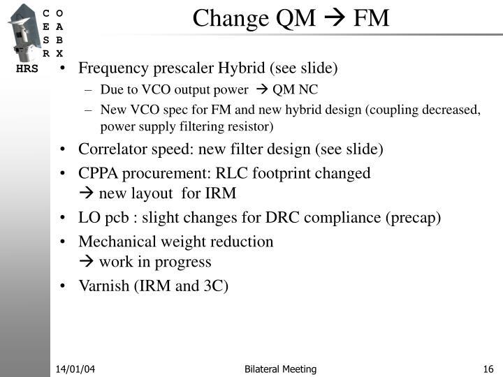 Change QM