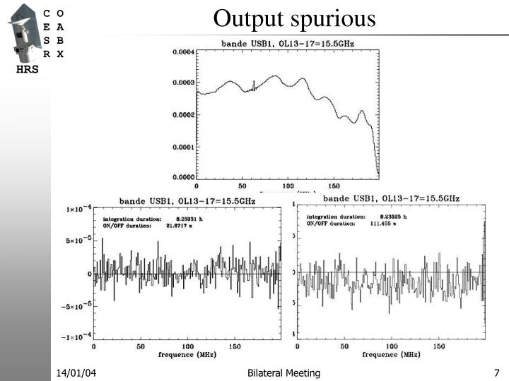 Output spurious