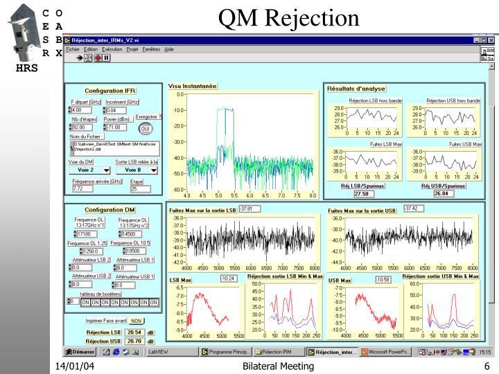 QM Rejection