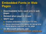 embedded fonts in web pages