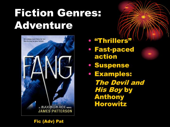 Fiction genres adventure