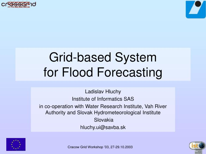 grid based system for flood forecasting n.