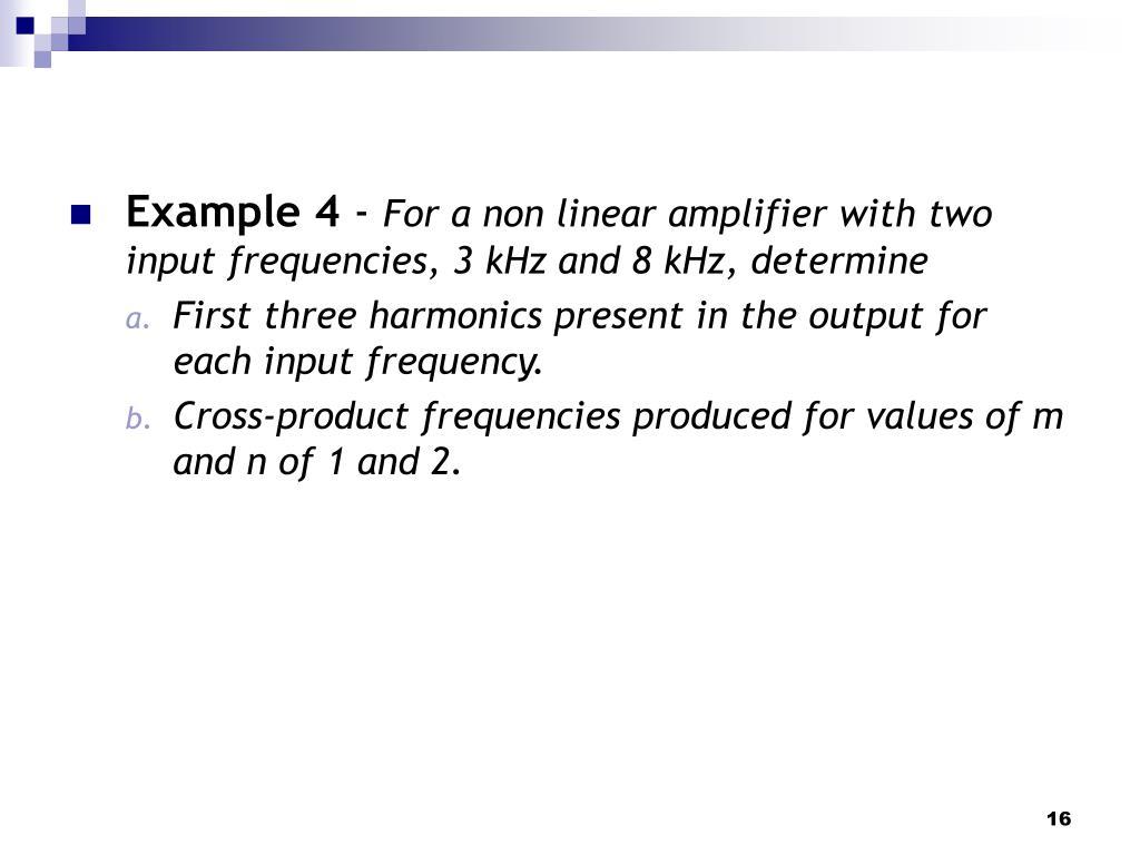 Non Linear Amplifier